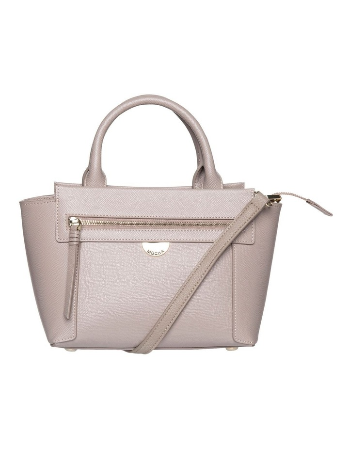 Premium Leather Top-Handle Bag - Taupe image 1