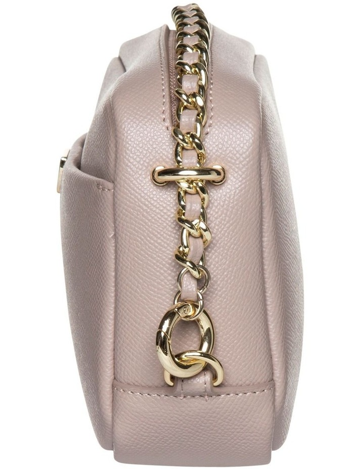 Premium Chain Leather Crossbody Bag - Taupe image 3