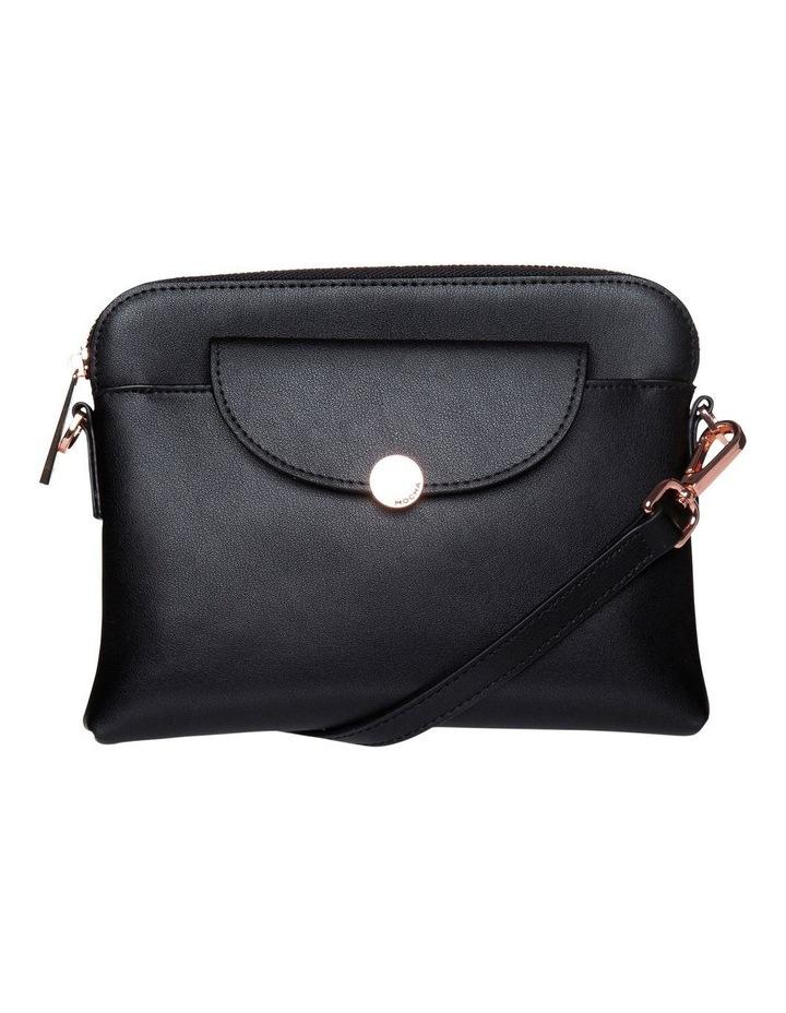 Brianna Leather Crossbody Bag - Black image 1