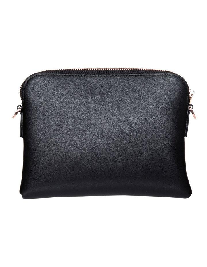 Brianna Leather Crossbody Bag - Black image 3
