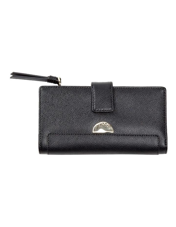Premium Long Leather Wallet - Black image 1