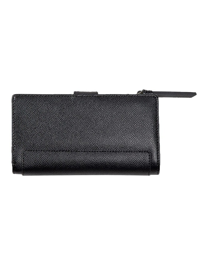 Premium Long Leather Wallet - Black image 2