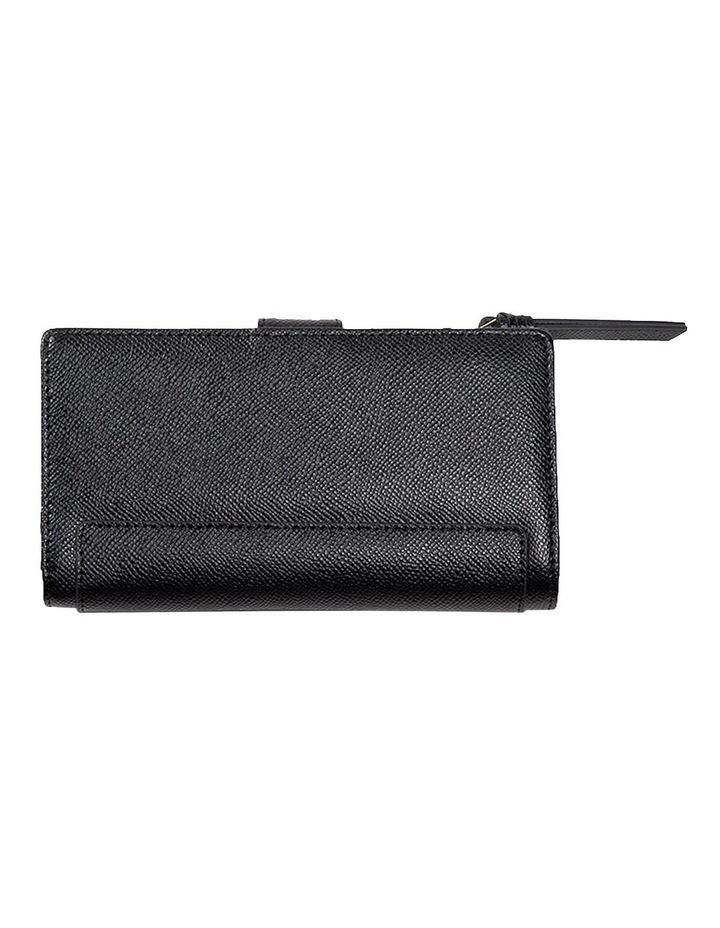 Premium Long Leather Wallet - Black image 2