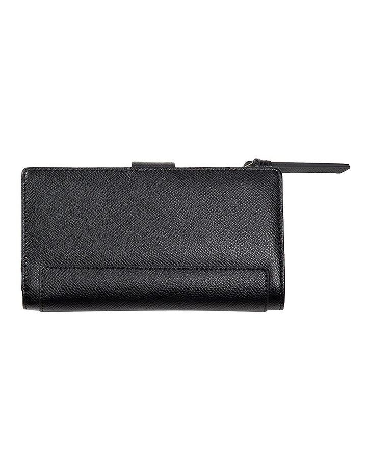 Premium Long Leather Wallet - Black image 3