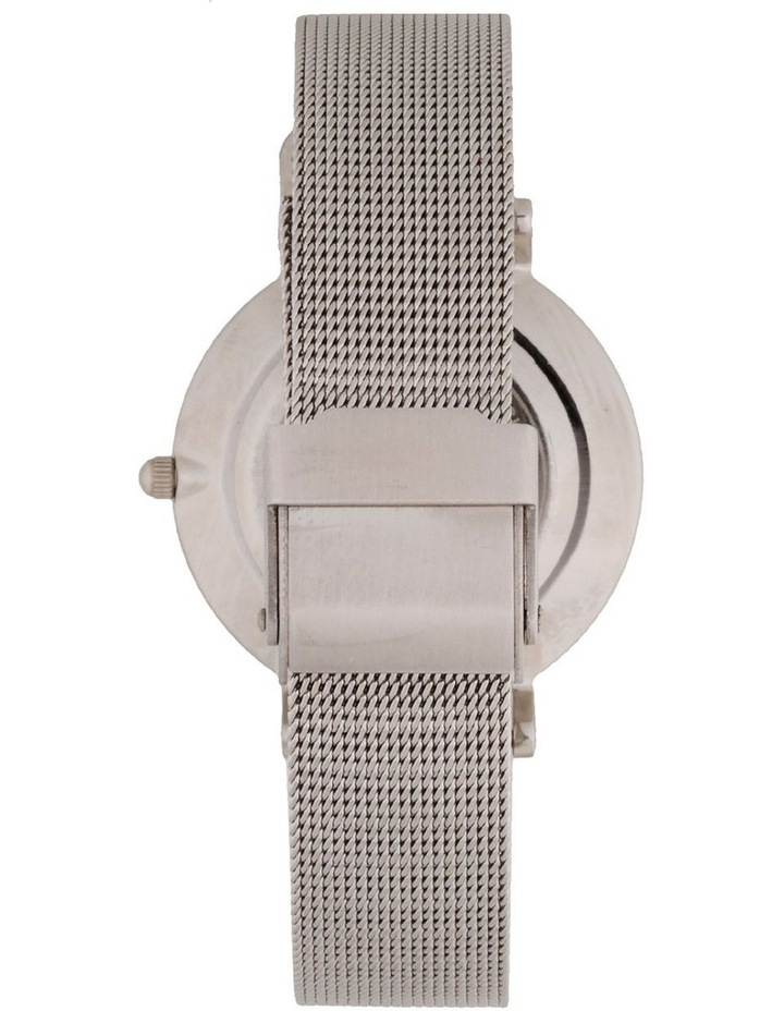 Cubic Zirconia 32mm White/Silver Mesh Quartz Watch image 2