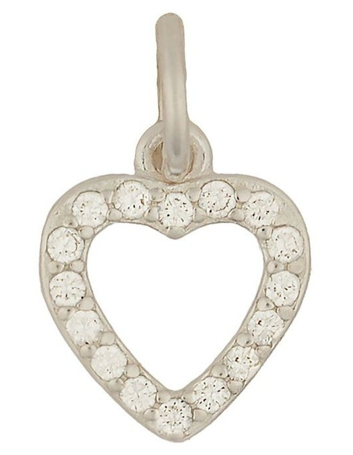Sterling Silver Open Heart Charm - Silver image 1