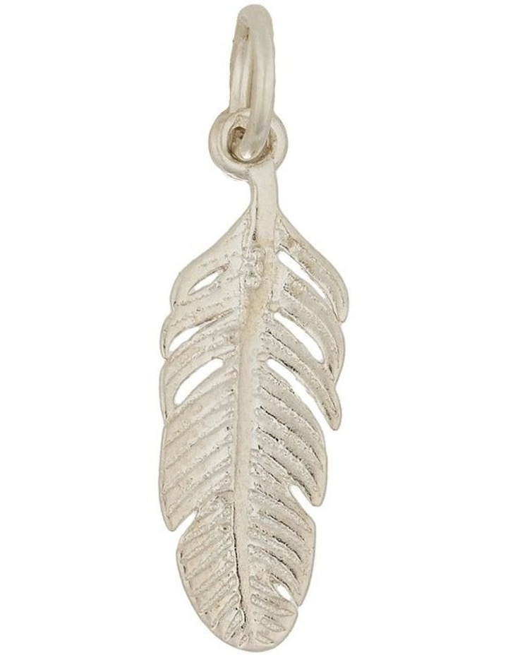 Sterling Silver Feather Charm - Silver image 1