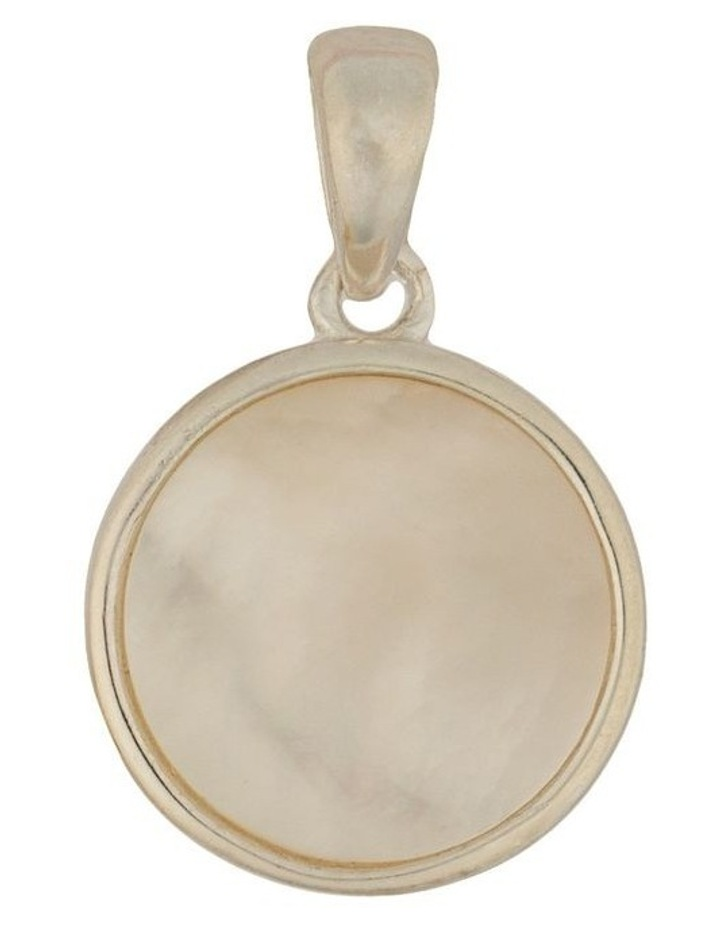 Sterling Silver Round M.O.P Pendant - Silver image 1