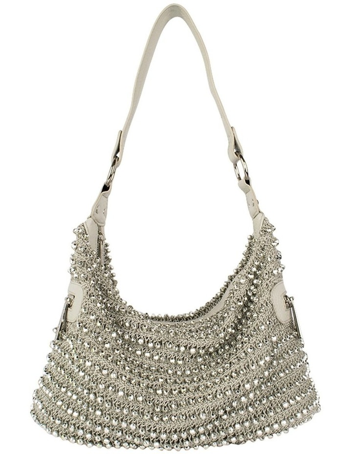 Beaded Eve Bag-Silver image 1