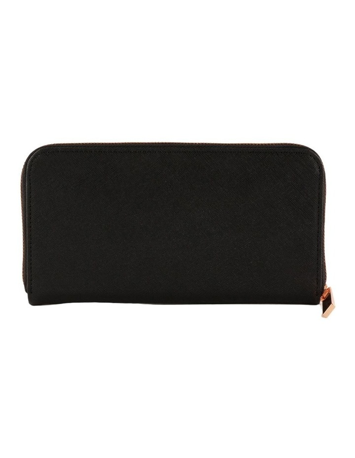 Kylie Leather Wallet - Black & Rosegold image 3
