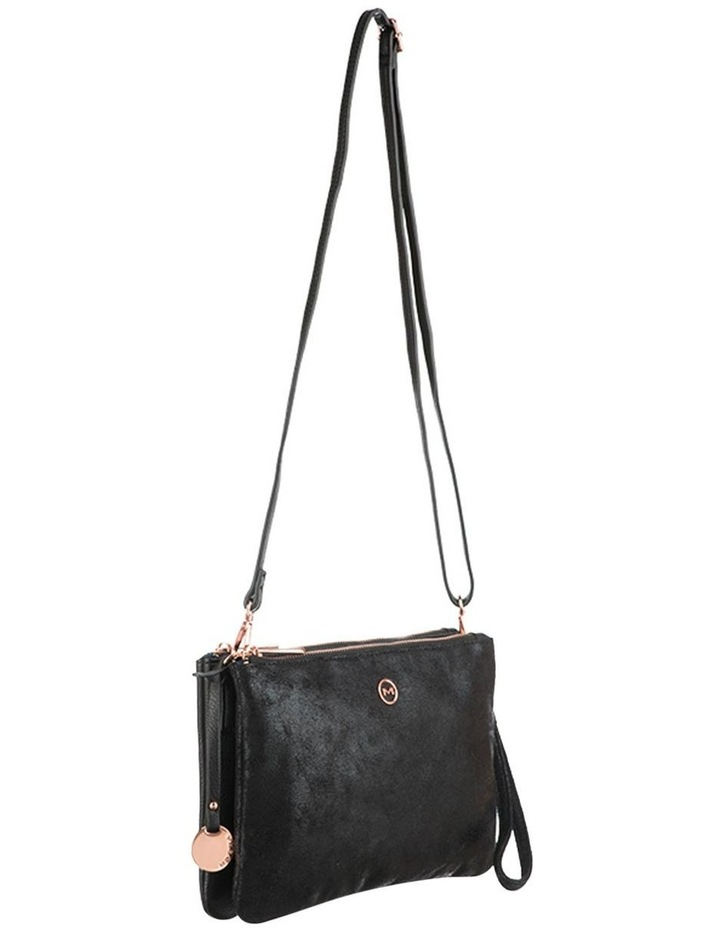 Jessie Crossbody Bag- Metallic Black image 3