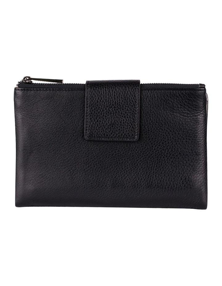 Jackie Leather Wallet-Black/Grey image 1