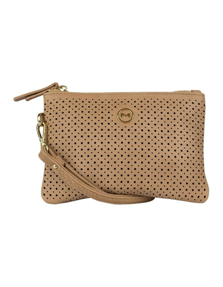 Perforated Take Me Coin Wallet - Tan image 1