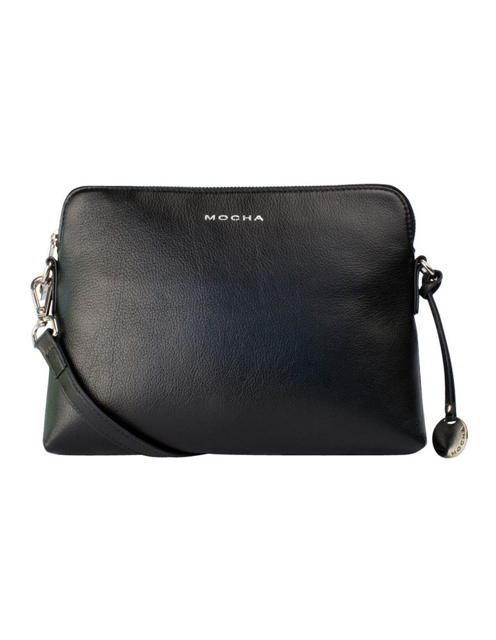 Classic Leather Crossbody Bag - Black image 1