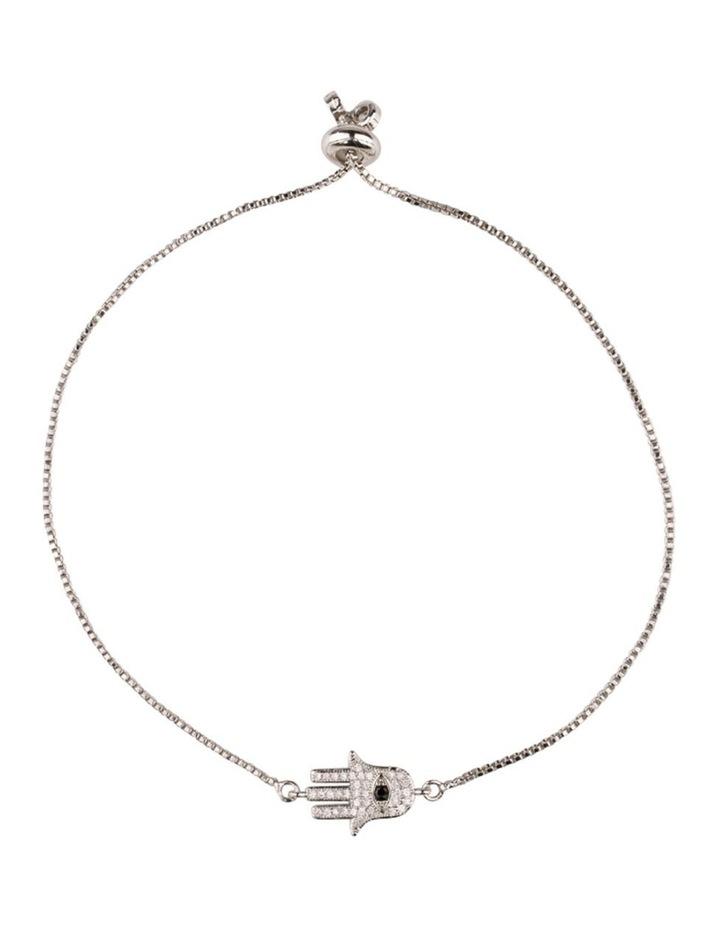 Magic Hamsa Bracelet-Silver image 1