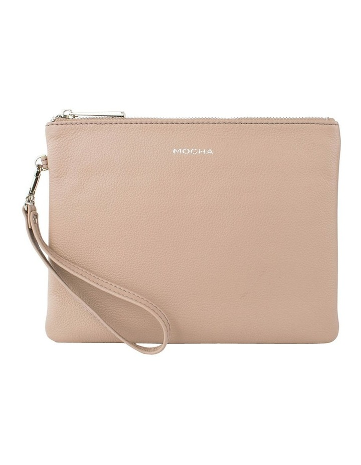 Ella Leather Clutch-Taupe image 1