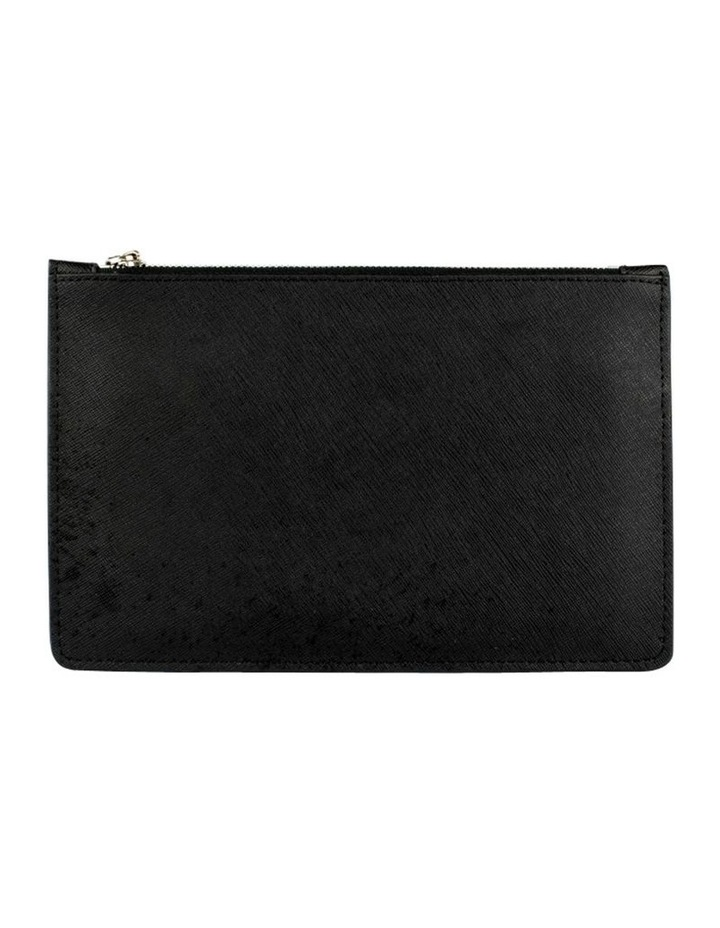 Small Jane Leather Clutch-Black image 3