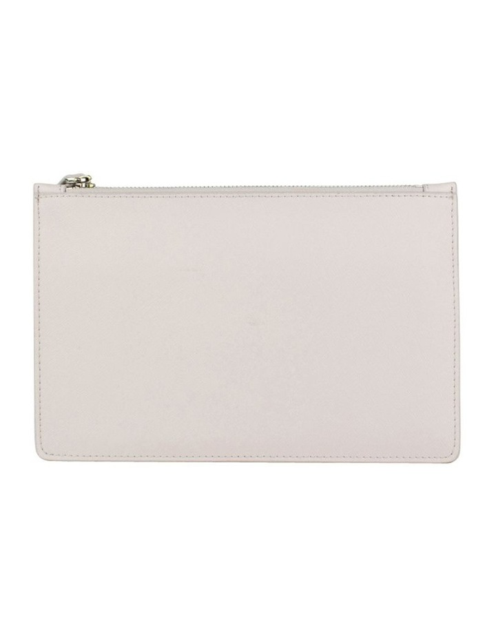 Small Jane Leather Clutch - Grey image 3