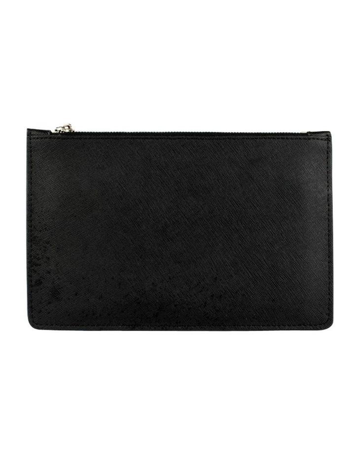 Large Jane Leather Clutch - Black image 2