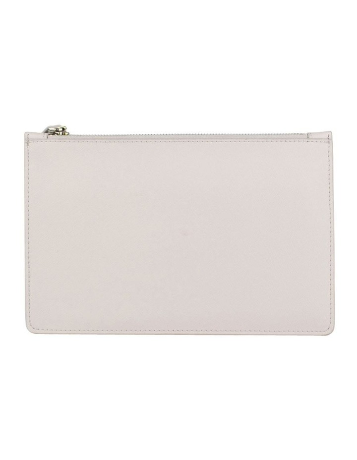 Large Jane Leather Clutch - Grey image 2