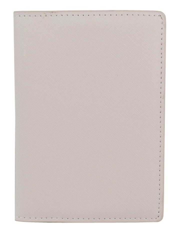 Jane Leather Passport Holder - Grey image 1