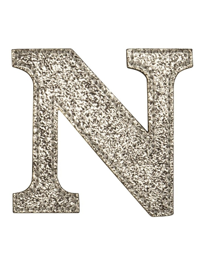 Leather Initial Sticker Patch- N Gold image 1