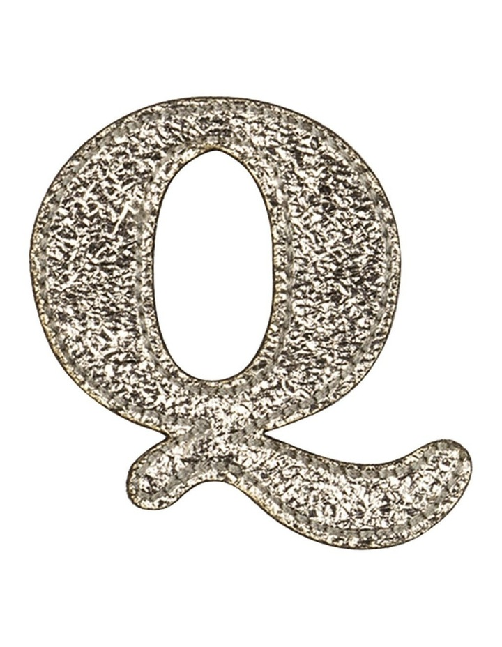 Leather Initial Sticker Patch- Q Gold image 1