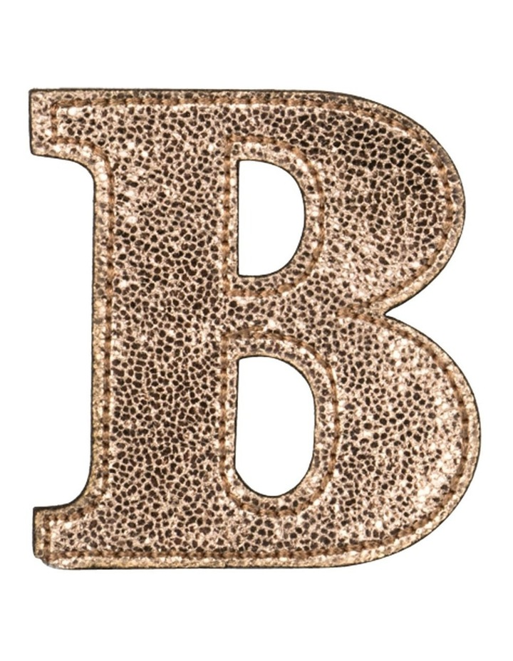 Leather Initial Sticker Patch- B Rosegold image 1