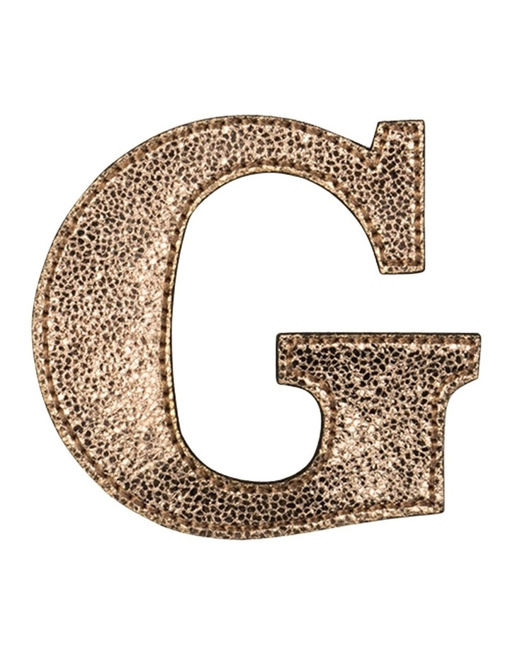 Leather Initial Sticker Patch- G Rosegold image 1