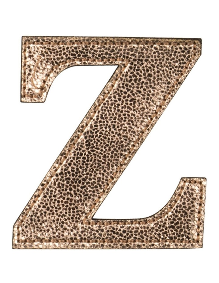 Leather Initial Sticker Patch- Z Rosegold image 1