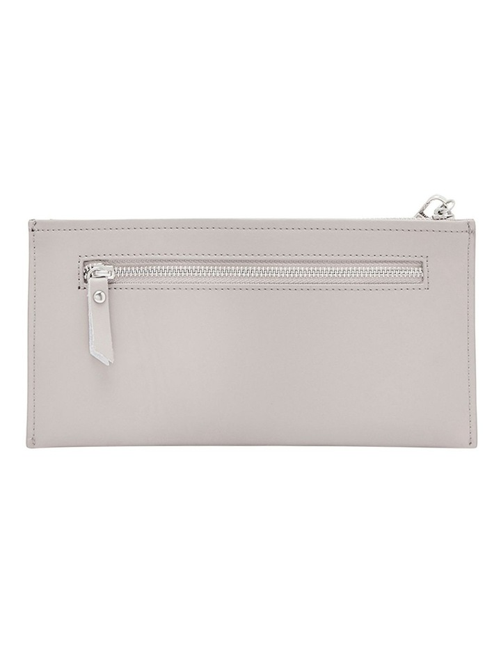 Leather Bailey Clutch - Grey image 2