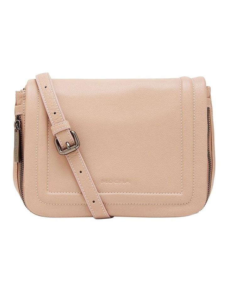 Leather Ella Flap Crossbody Bag - Taupe image 1