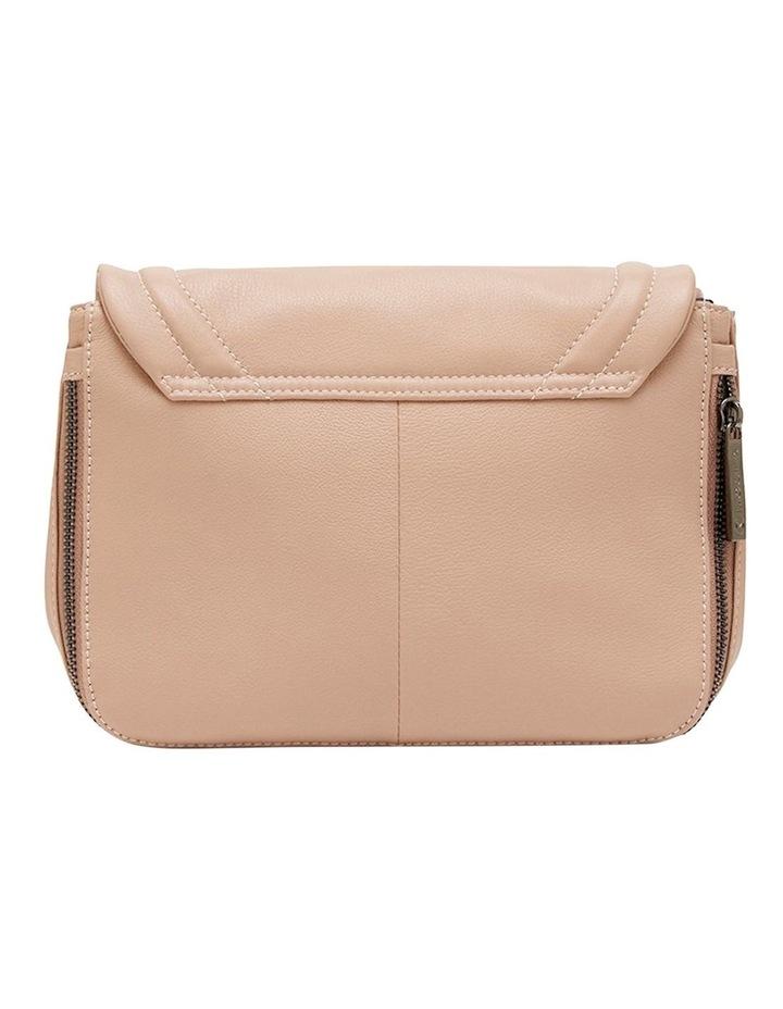 Leather Ella Flap Crossbody Bag - Taupe image 2