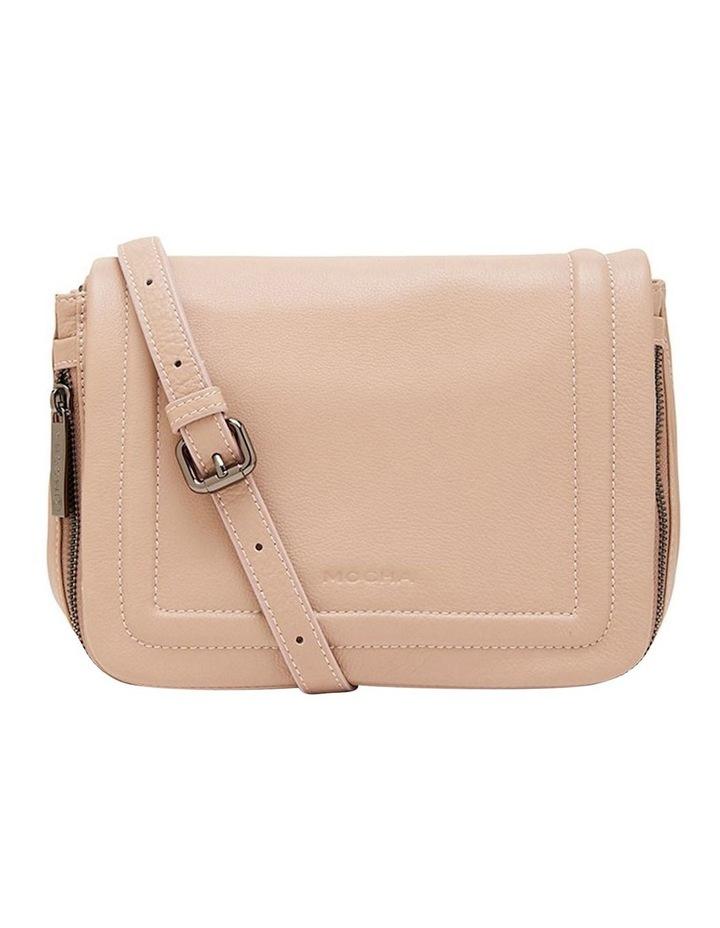 Leather Ella Flap Crossbody Bag - Taupe image 3