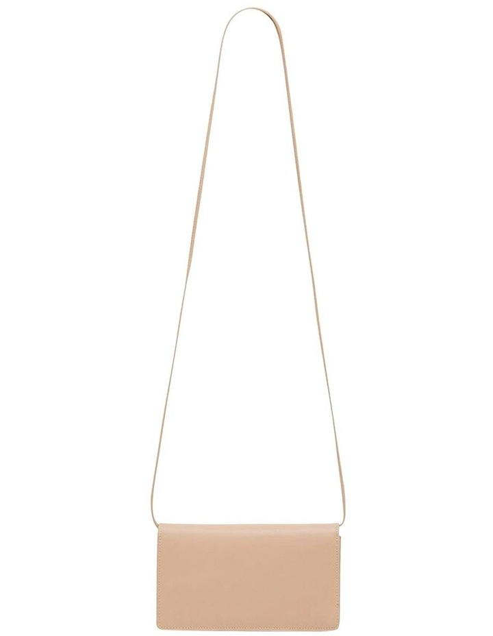 Leather Nancy Mini Crossbody - Taupe image 3
