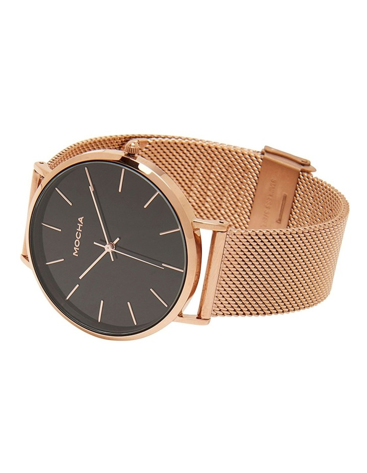 41mm Watch- Black/Rose Gold Mesh image 2