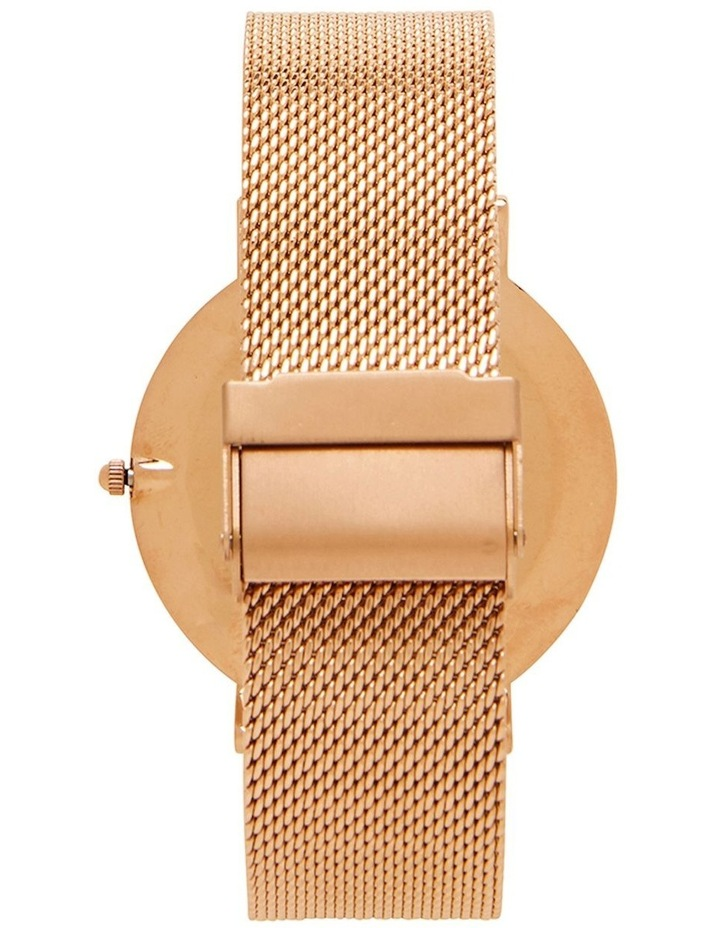 41mm Watch- Black/Rose Gold Mesh image 3