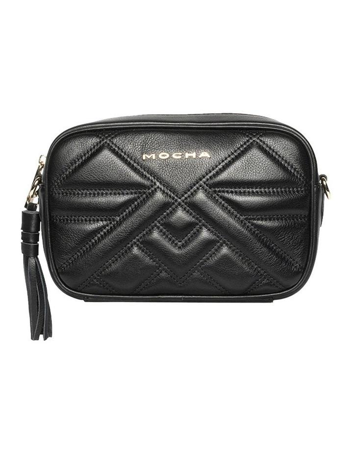Aztec Leather Crossbody Bag-Black image 1