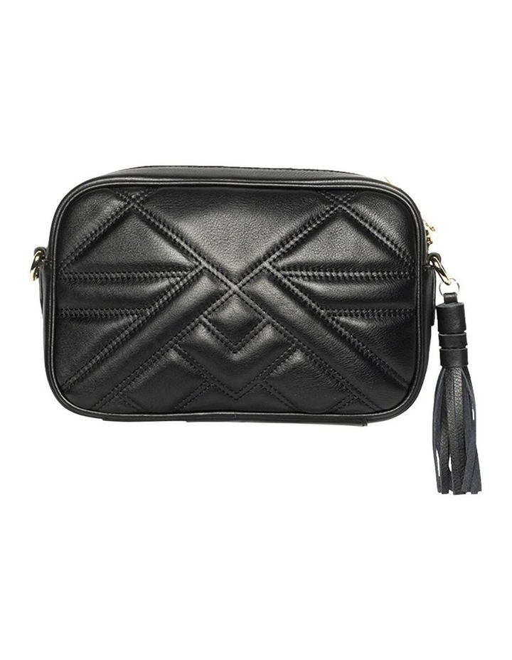 Aztec Leather Crossbody Bag-Black image 2