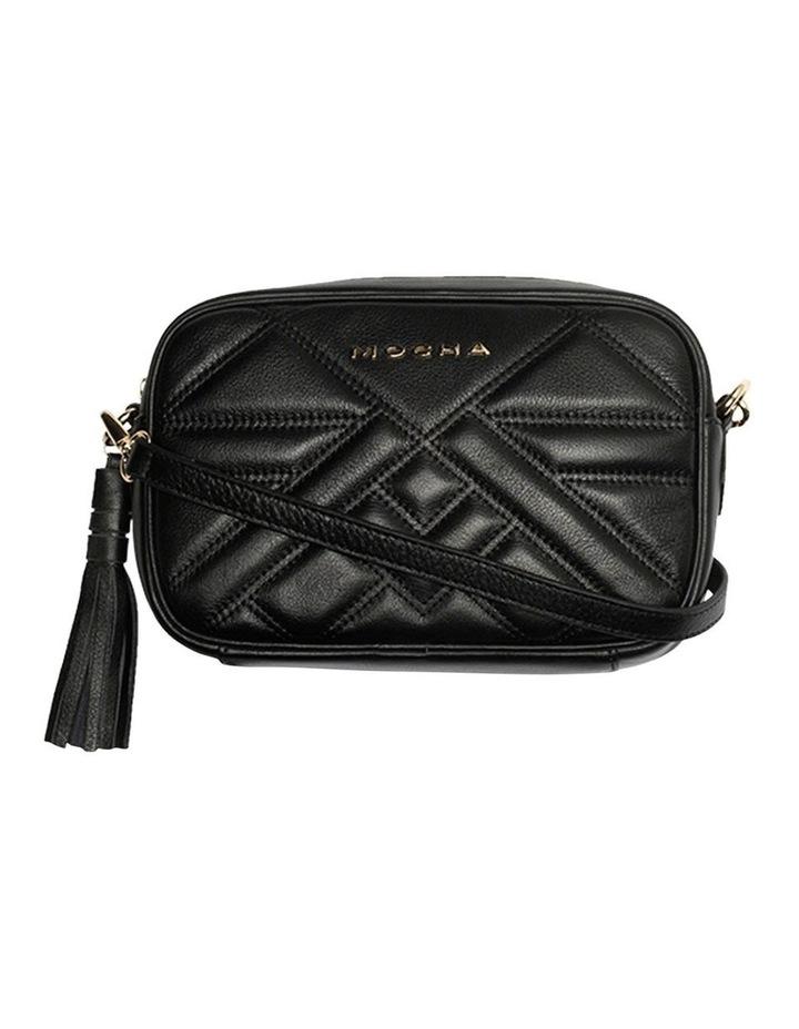 Aztec Leather Crossbody Bag-Black image 3