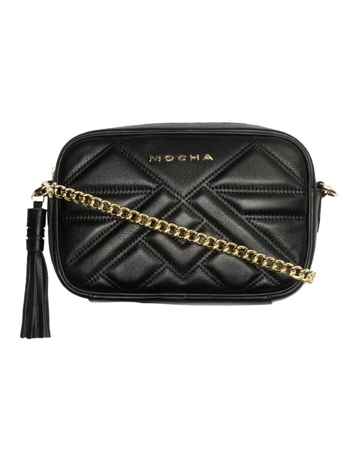 Aztec Leather Crossbody Bag-Black image 4