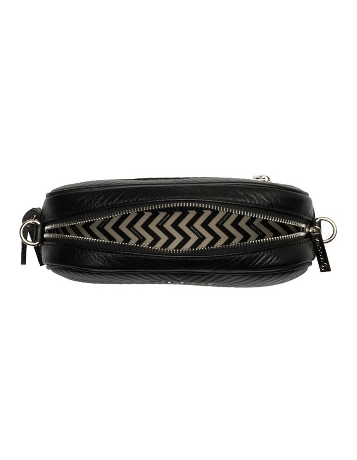 Aztec Leather Crossbody Bag-Black image 5