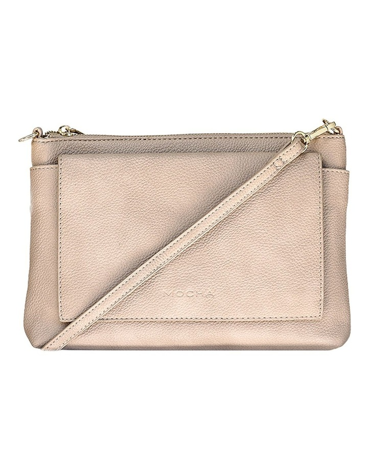 Double Flap Crossbody Bag - Taupe image 1