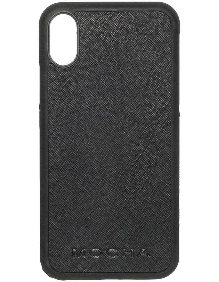 Jane Leather Hard Case For iPhone XS / X - Black image 1