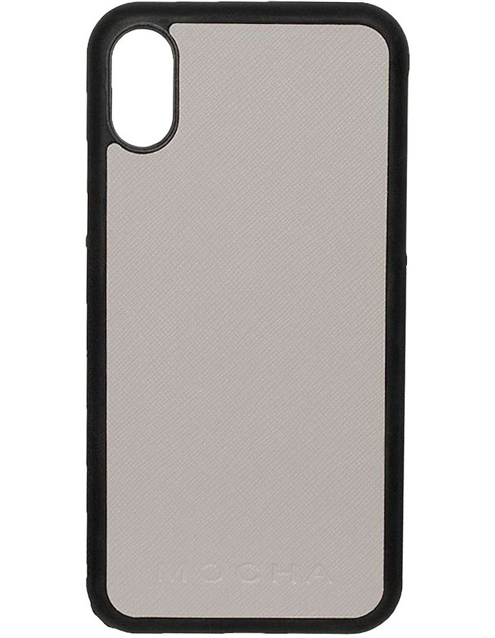 Jane Leather Hard Case For iPhone XS / X - Grey image 1