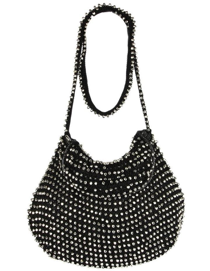 Boho Long Beaded Bag - Black/Rose Gold image 1