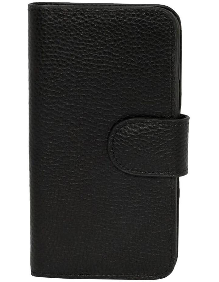 Leather Flip Phone Case For iPhone 8 Plus / 7 Plus - Black image 1