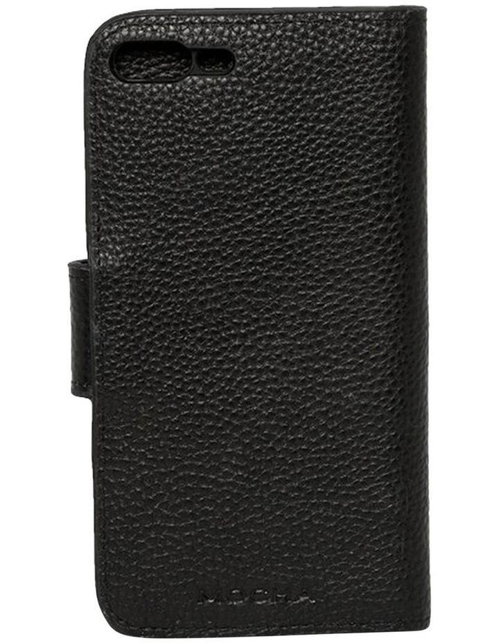 Leather Flip Phone Case For iPhone 8 Plus / 7 Plus - Black image 2