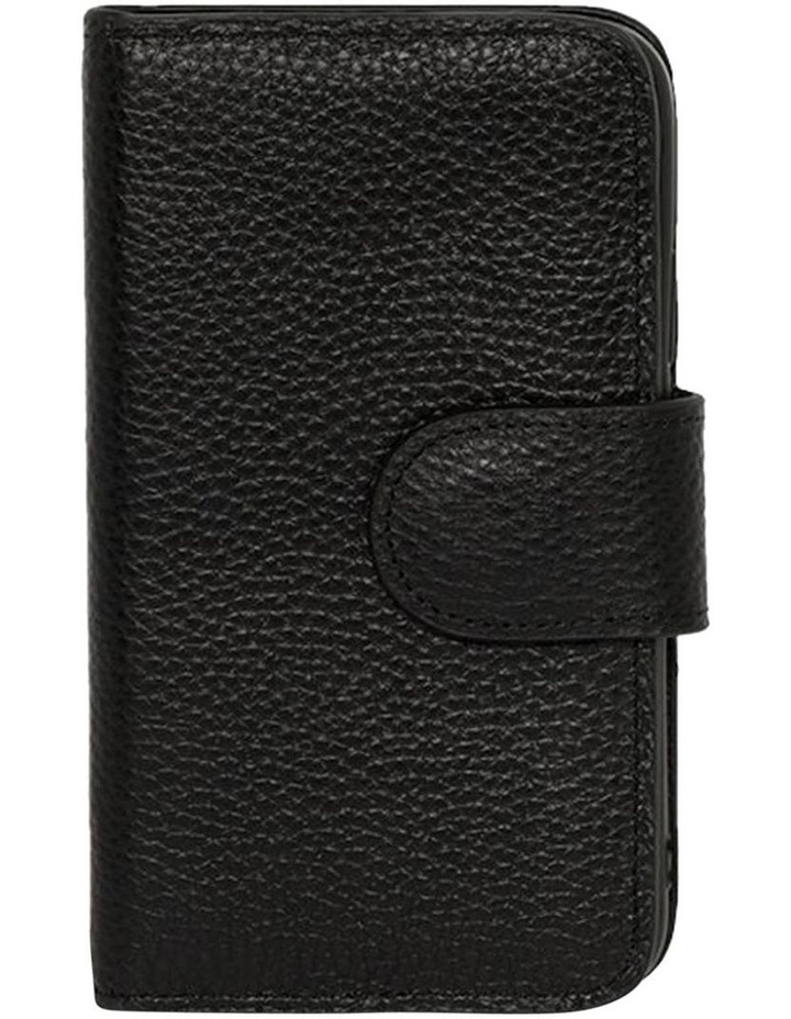 Leather Flip Phone Case Iphone X-Black image 1