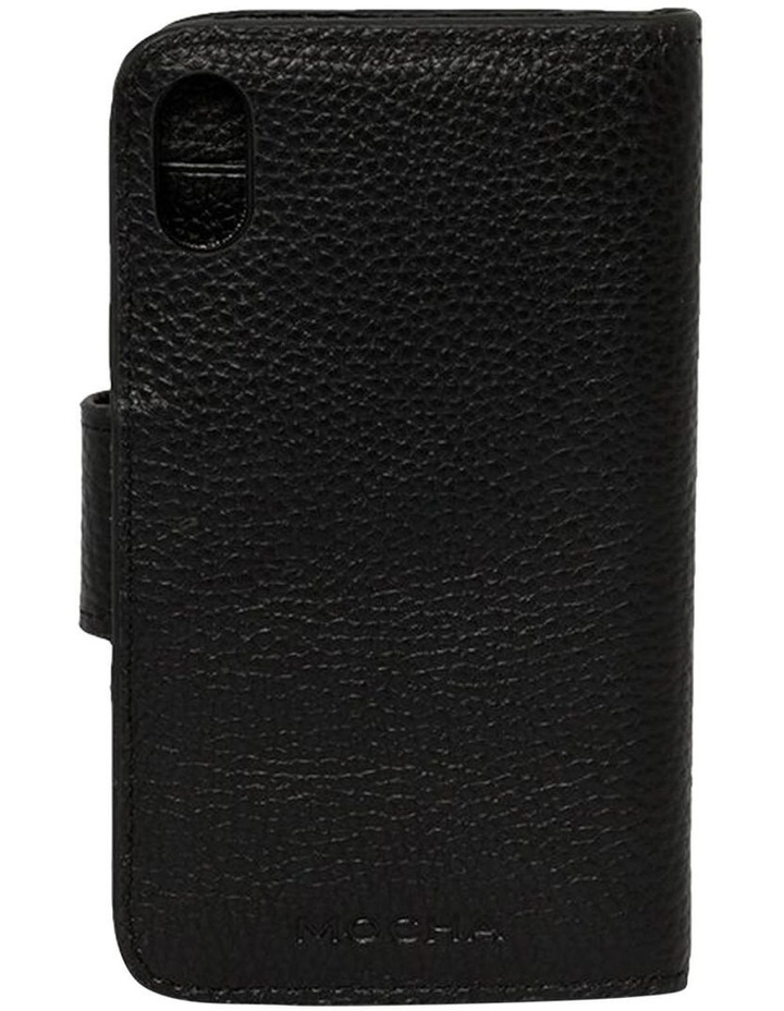 Leather Flip Phone Case Iphone X-Black image 2